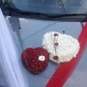 Aranjament de mașină 2 inimi