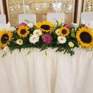 Aranjament prezidiu cu floarea soarelui