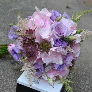 Buchet de mireasă roz-lila