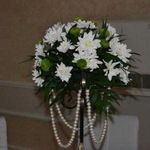 Aranjament de masă cu crizantemă