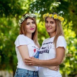 Coronițe cu crizanteme