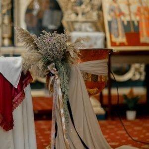 Aranjament de cristelniță cu lavandă